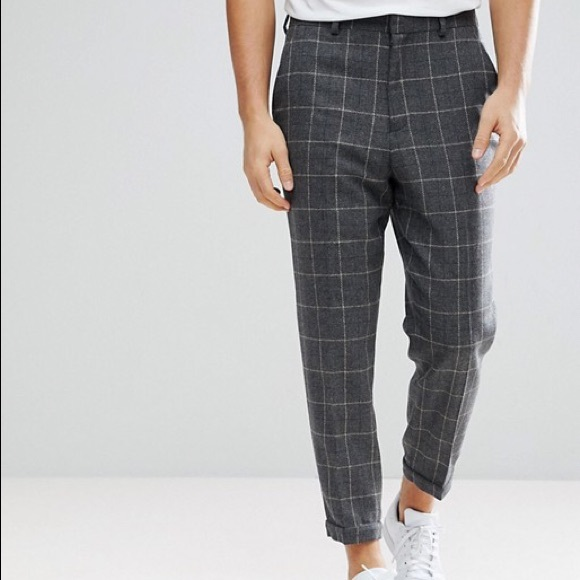 ASOS DESIGN Pants Mens Wool Patterned Poshmark Enchanting Mens Patterned Pants